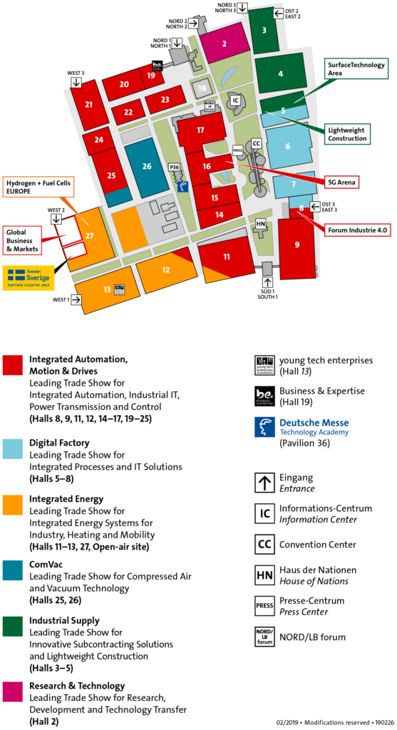 hannover messe 2019 responsive map