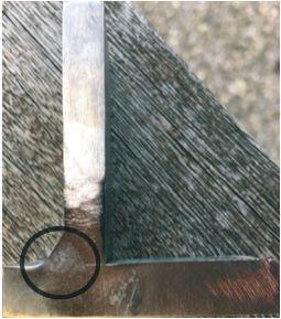 TIP TIG HDMT Fokus: kut zavarivanja bez pripreme spoja prije zavarivanja. Debljina lima je 8 mm + 10 mm.