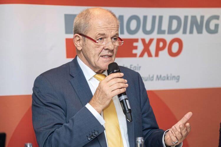 """Ulrich Kromer von Baerle, predsjednik Uprave Messe Stuttgart, bio je impresioniran rezultatom trećeg izdanja Moulding Expo: """"Stručnost posjetitelja je još uvijek visoka i sajam je postao platforma."""""""