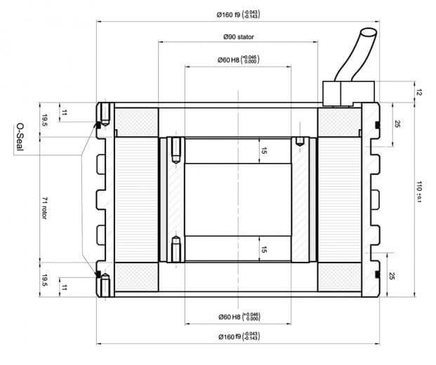 Rotor i stator bez okvira se isporučuju kao sastavni dijelovi