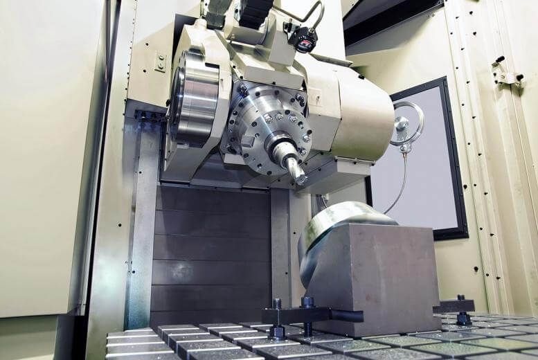 Mitsui Seiki's new HU100-TS 100 tilt-spindle five-axis HMC machine