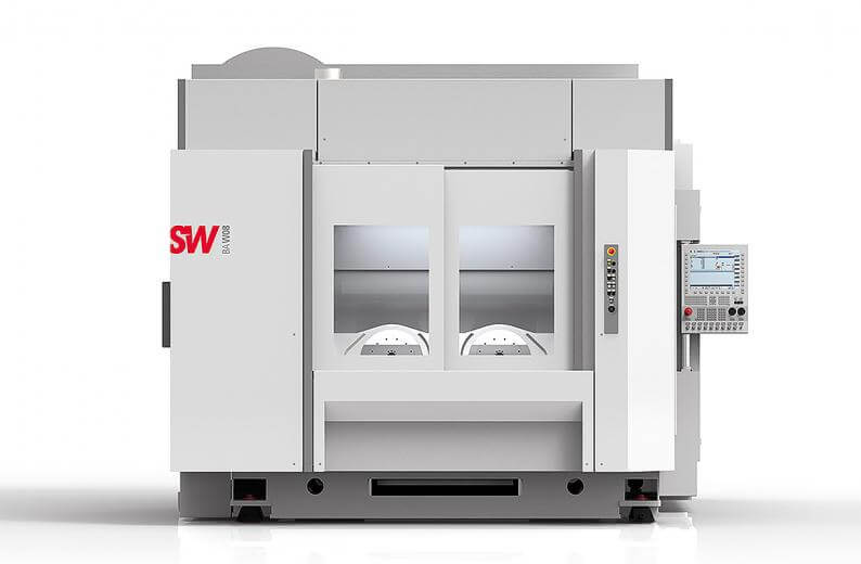 Schwäbische Werkzeugmaschinen GmbH (SW) developed a machining center specifically for machining electric auto parts: The BA W08 is designed for four- and five-axis machining