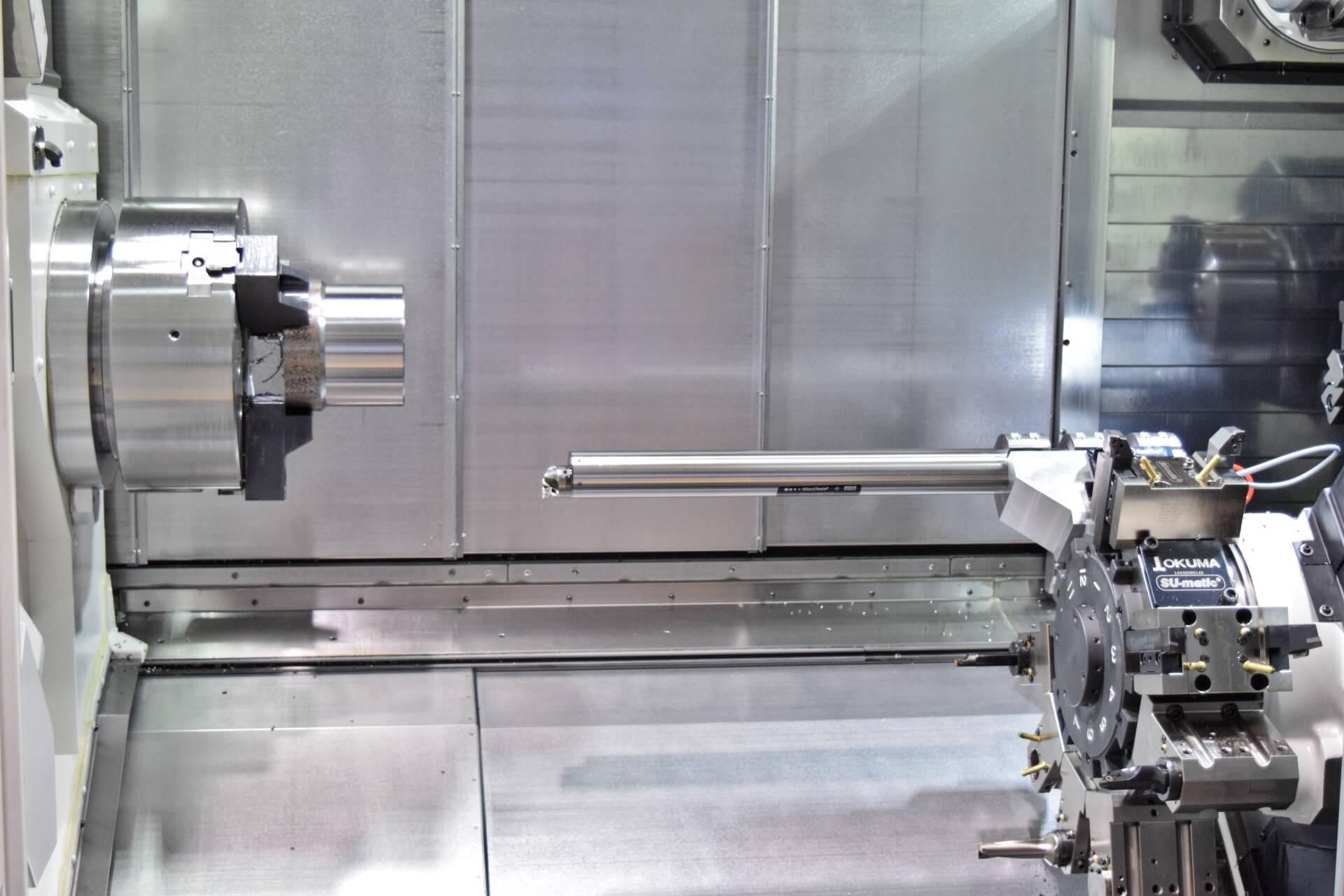 Demonstracija Sandvik Coromant tehnologije Silent Tools Plus na Okuma MULTUS U4000.