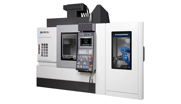 Okuma vertical machining center with standroid