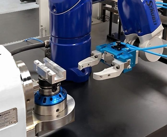 Automated loading and unloading of machining centres