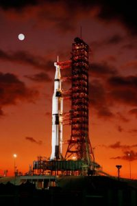 Saturn V is taller than the Space Launch System