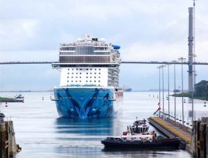 The Norwegian Bliss is the largest passenger cruise ship to have ever transited the Panama Canal