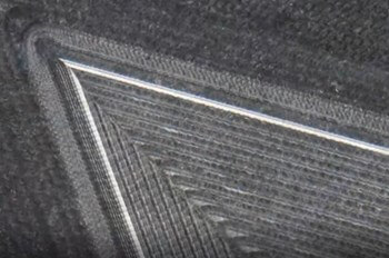 Flow milling finish cut magnified 25x.