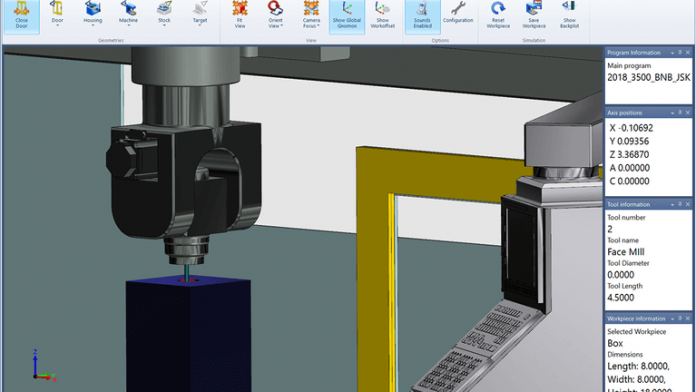 Simulating 5-Axis Machining for Training