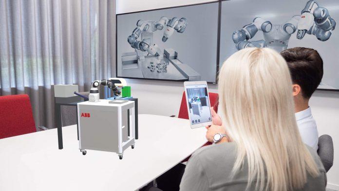 ABB-ova aplikacija RobotStudio AR pojednostavljuje instalaciju robota