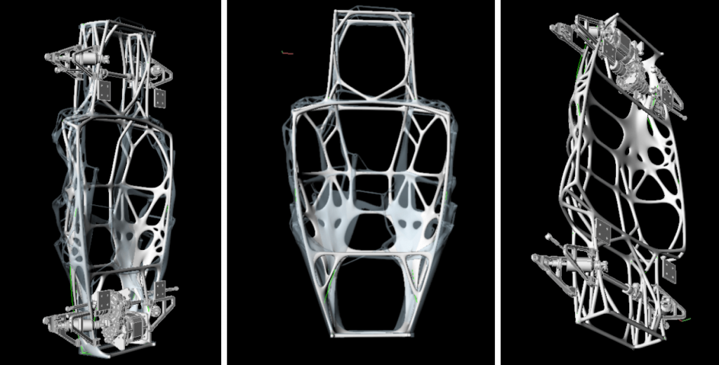 PIX's generatively designed chassis structures.