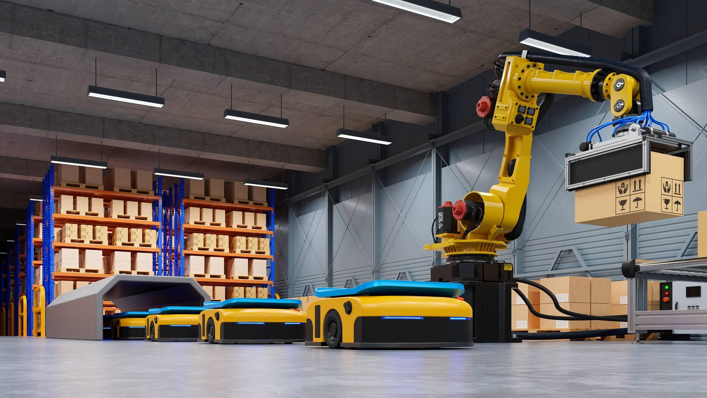 Roboti obavljaju rutinske i opasne poslove u tvornicama i skladištima.